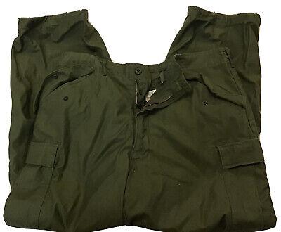 US Army Sateen OG-107 WRT Pants Cargo Green Zipper Large Regular Vintage (CT1)