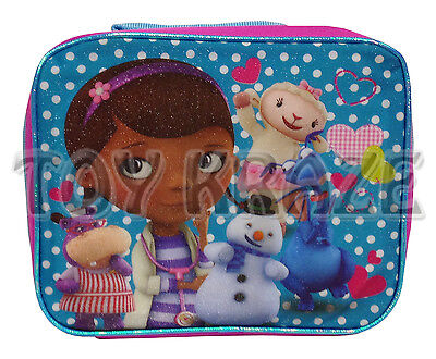 Doc Mcstuffins Lunch Box (DOC McSTUFFINS LUNCH BOX! BLUE POLKA DOTS SCHOOL SNACK BAG INSULATED TOTE)