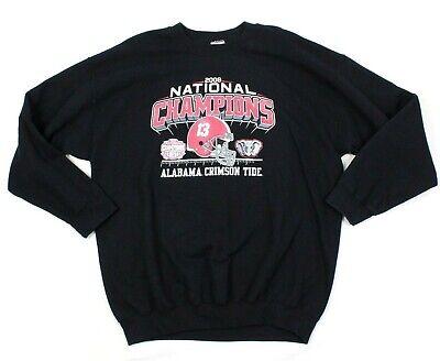 Alabama Sweatshirt (Alabama Crimson Tide Sweatshirt Herren Extragroße XL Rundhals Nationale Champs)