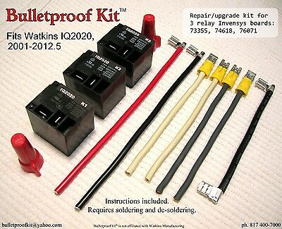 Bulletproof Kit™ fits Watkins IQ2020 Heater Relay Board 73355,74618 on relay control board, 12 volt relay schematic diagram, relay coil circuit board,