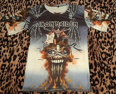 Iron Maiden The Evil That Men Do 1988 Seventh Son shirt VERY...