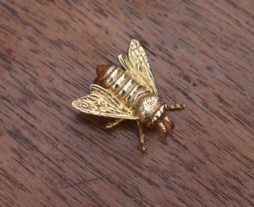 18K Yellow Gold Bee Pin Brooch ~ FM77 ~ 6.6 gram