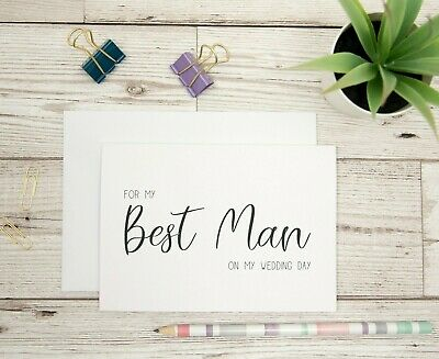 For My Best Man On My Wedding Day Card - Best Man Card - From The Groom