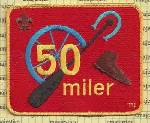 BSA OFFICAL BOY SCOUT 50 MILER AWARD (HIKE BIKE AFLOAT) CURRENT 4 INCH PATCH