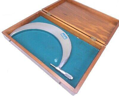 Scherr Tumico Tubular Outside Micrometer 9-10 Range.0001 Grad W Wooden Case