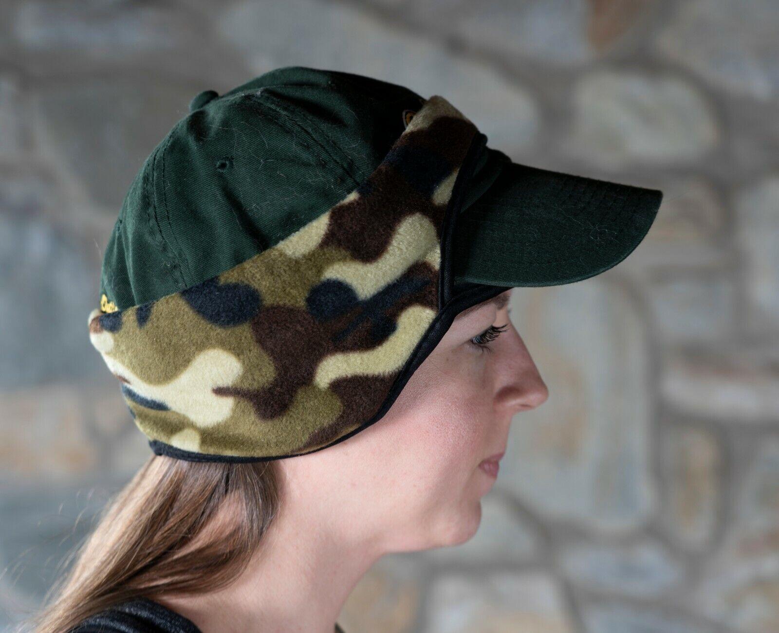Baseball CAP Fleece EARs Forehead BAND – CAMOUFLAGE Green New earband Headband Clothing, Shoes & Accessories