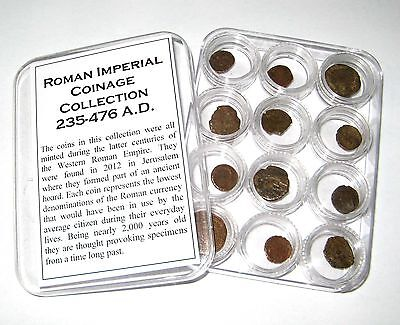 Ancient Roman Imperial coin collection in capsules 12 coins