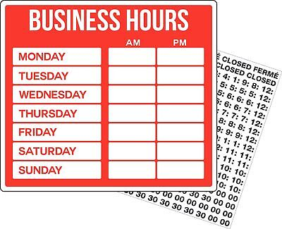 New Open Closed Business Hours Retail Store Business Sign
