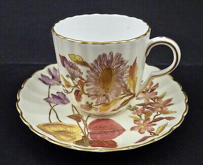 1920 BOURGEOIS PARIS 21.Rue Drouot Coffee Tea Cup /& Saucer x2 sets c Antique E