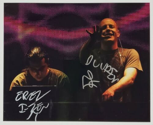 INFECTED MUSHROOM DJ SIGNED 8X10 PHOTOGRAPH W/COA EDM TRANCE MUSIC