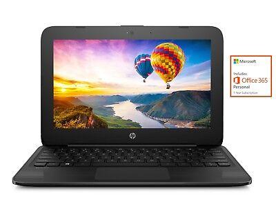 "NEW HP 11.6"" Intel Dual-Core 2.6GHz 4GB 32GB Windows 10 Streambook w/ Office 365"