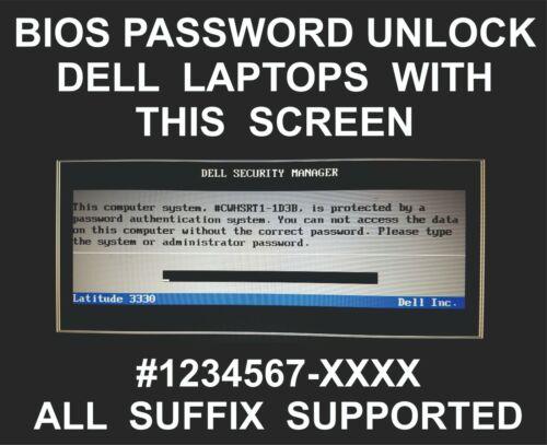 Dell Bios Password Unlock, Dell Adamo, Inspiron, Latitude, Mini, Vostro, XPS P5