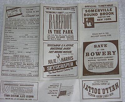 Jersey Central Railroad Timetable April 24, 1966 Somerville Bound Brook