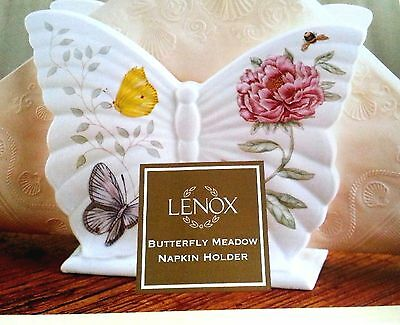 Lenox Butterfly Meadow Napkin Holder Retired Hard to Find New in Lenox Box