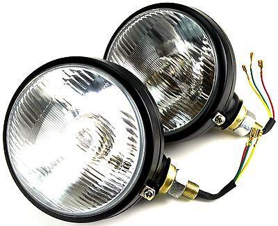 2x Scheinwerfer mit Standlicht E-Zulassung Traktor Lampe 12v Bagger Schlepper