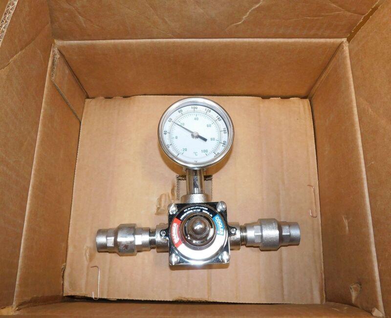 Lawler 911E/F Emergency Shower Eyewash Thermostatic Valve 8490802 New
