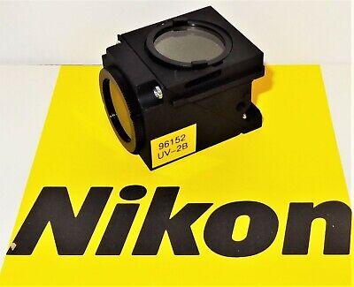 Nikon Uv-2b Fluorescent Microscope Filter Cube For E400 600 Te200300