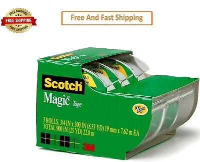 Scotch Magic Tape Dispenser. In. X 325 In. 3 Dispenser