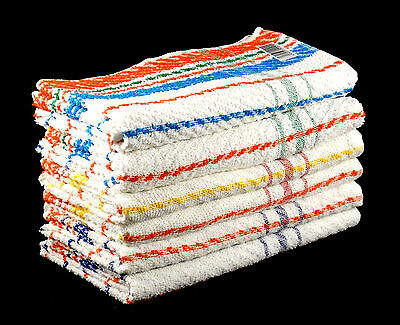 Cheap and Cheerful Bath and Hand Towels Set 100% Cotton Multicoloured Striped ()