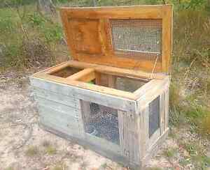 Solid timber Guinea pig/rabbit hutch. Worongary Gold Coast City Preview