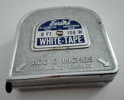 vintage American inside tape measure 8 feet retractable ruler USA made 8 foot