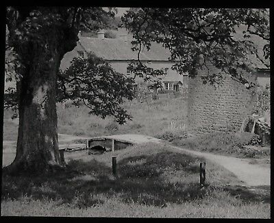 Glass Magic Lantern Slide STONE BRIDGE LOWER SLAUGHTER C1910 EDWARDIAN PHOTO