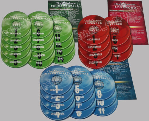 Brand New Set Clinton Anderson Fundamentals, Intermediate Advanced