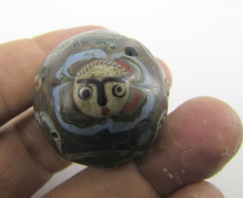 Ancient Roman type 3 faces beads of 19th century from Herat city of Afghanistan