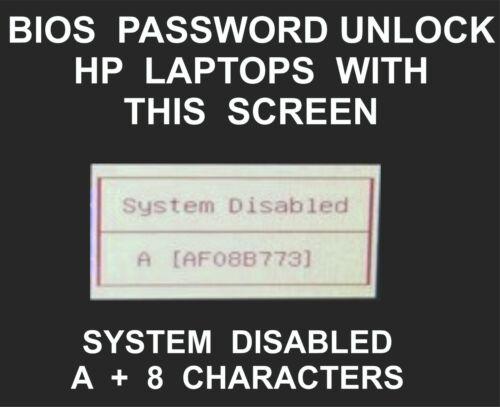 HP Bios Password Unlock, HP Spectre, Folio, Pavilion, Omen, Elitebook, Envy, P4