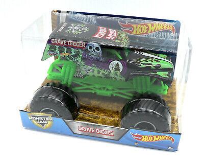 Mattel Hot Wheels Großes Auto 1:24 Monster Trucks Grave Digger (Monster Truck Grave Digger)