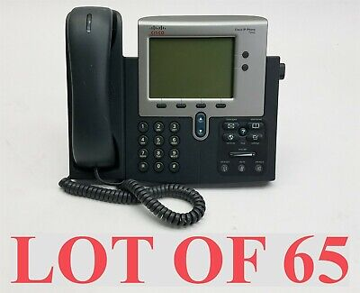 Cisco 7942 Cp-7942g Unified Ip Voip Office Business Phone Whandset Lot 65