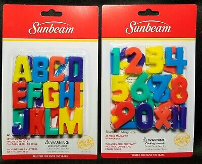 ABC's & 1'2'3,s Magnet Lot.1 Set Of 26 Letters & 26 Numbers.  New & Sealed!