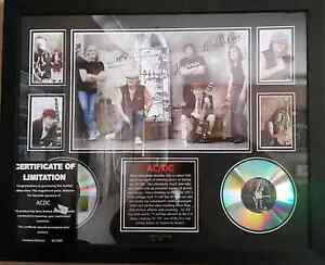 Limited edition signed AC/DC picture Davoren Park Playford Area Preview
