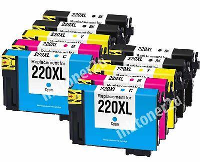 10Pk T220XL 220XL Ink Cartridge For Epson WF-2750 XP-420 XP-320 XP-424 WF-2660