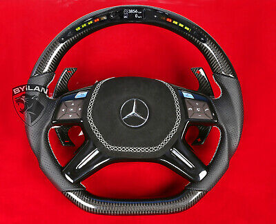 MERCEDES ML63  W166 CARBON LENKRAD MIT LED  ECHT   CARBON
