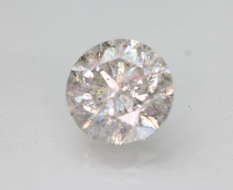 Certified 4.32 Carat H SI2 Round Brilliant Enhanced Natural Diamond 10.11mm3VG