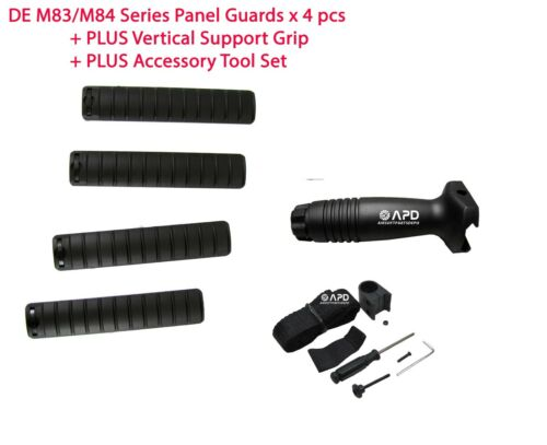 DE M83/M84 Series Airsoft 4 Panel Guards + Plastic Foregrip + Accessory Tool Set