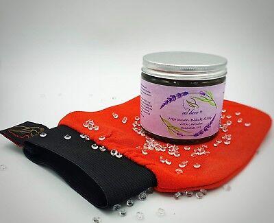 Moroccan Black Soap with Lavender Plus Free Premium Kessa Exfoliation Glove