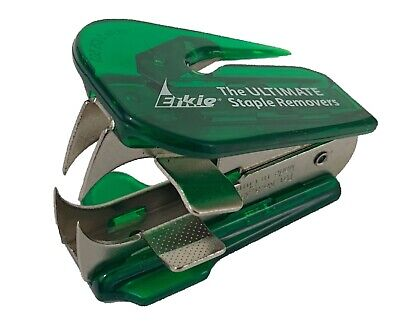 Ultimate Erkie Staple Remover With Pliers And Letter Opener Green Brand New