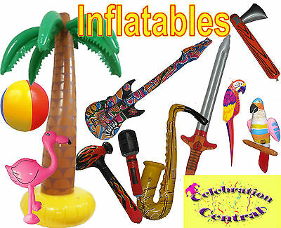 INFLATABLES GALORE GUITAR SAXAPHONE HAMMER SWORD PALM TREE MONKEY FISH MICROPHON - Inflatable Saxaphone