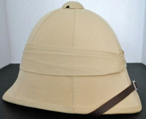New British Tan Color  African Boer War Genuine Pith Sun Helmet