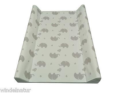 Wickelauflage 2-Keil Elefanten Zartgrau 70x50 cm Wickeltisch Ökotex  Auflage