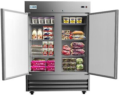Stainless Steel 54 Two Door Commercial Reach In Refrigerator Cooler 47 Cu. Ft.