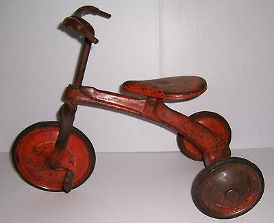 ANTIQUE VINTAGE 1930S METALCRAFT CHILDRENS TRICYCLE PEDAL TOY