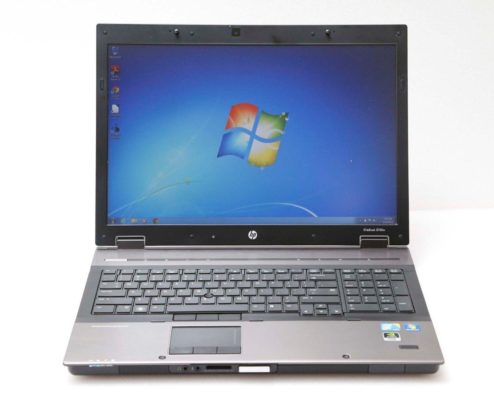 """HP EliteBook 8740w 17"""" Core i5 2.4GHz 4GB 1TB Win 7 ATI FirePro Gaming Laptop"""