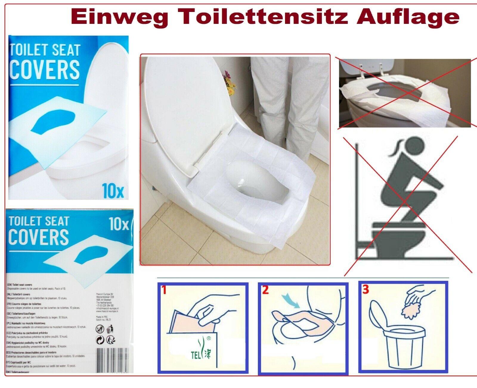 Einweg Toilettensitz Auflage Abdeckung WC Cover Schutz Papier Hygieneauflagen
