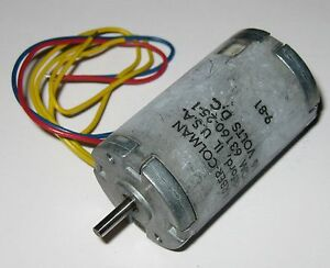Barber colman 16 v dc motor with ac tachometer 8500 rpm for Tachometer for electric motor