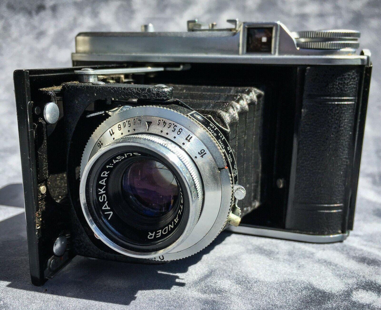 VOIGHTLANDER Perkeo 1 Folding Camera, Vaskar 75mm F4.5 VINTAGE - $300.00