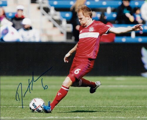 Dax McCarty Signed 8x10 Photo Chicago Fire USA MLS Soccer Autograph