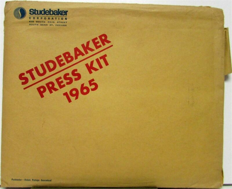 1965 Studebaker Press Kit Daytona Wagonaire Cruiser Photos Specs Original